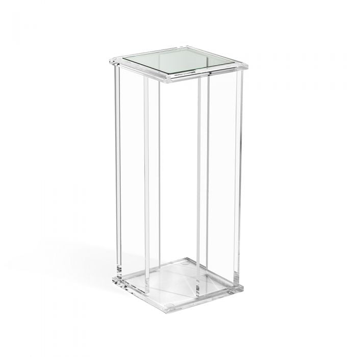 Square Clear Acrylic with Glass Top Drink Table