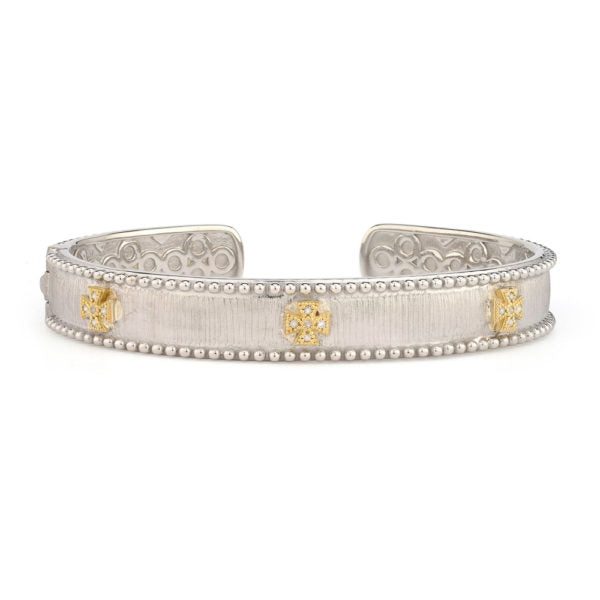 Jude Frances Mixed Metal Narrow Beaded Maltese Cuff