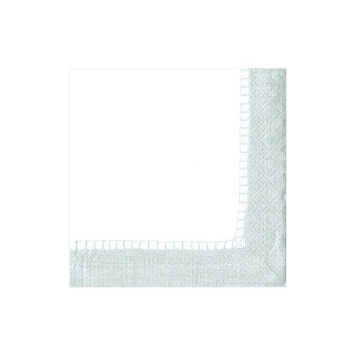 LINEN BORDER SILVER PAPER COCKTAIL NAPKIN