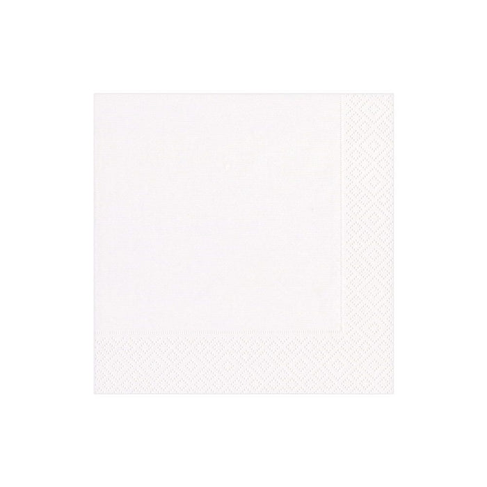 CASPARI COCKTAIL NAPKIN WHITE GROSGRAIN