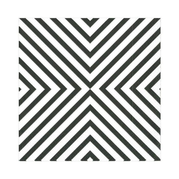 CHEVRON BLACK PAPER LUNCH NAPKIN