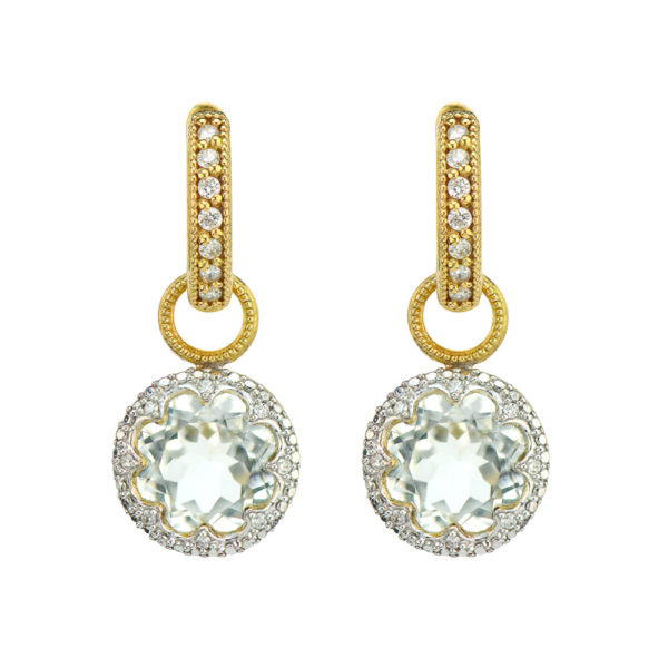 Jude Frances Provence Delicate Pave Trio Round Stone Earring Charms