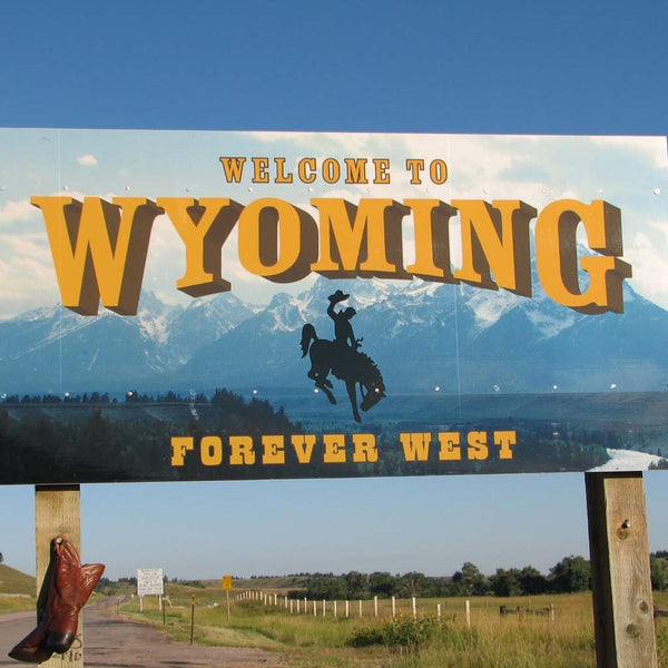 Welcome to Wyoming Billboard Sign