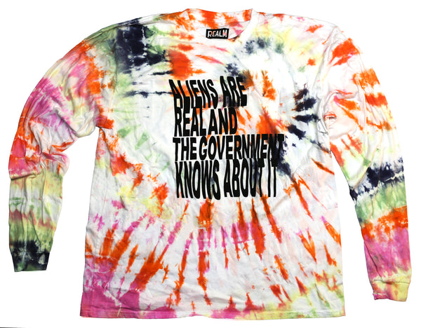 Aliens Are Real Tie Dye Long Sleeves