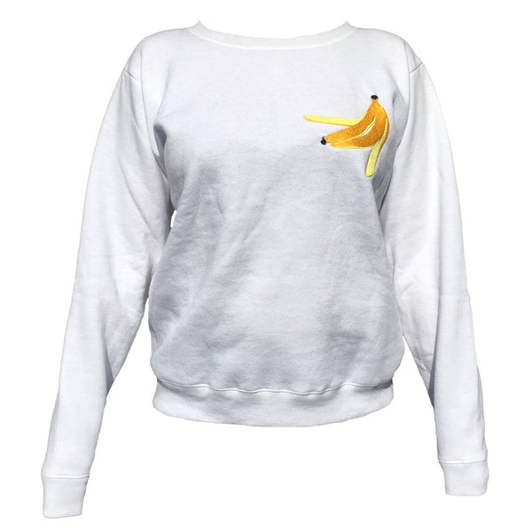 Banana Peel Sweatshirt White