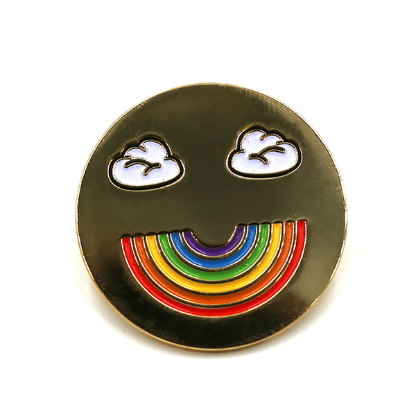 Rainbow Smiley Pin