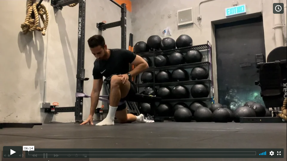 Football Lower Body Mobility Gym Routine