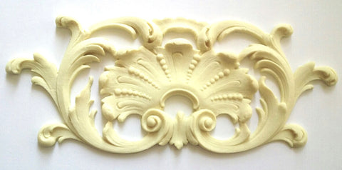 Calais shell and leaf cartouche and frame silicone mold - mould