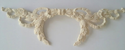 Large Laurel Wreath and Ribbon silicone mold - mould
