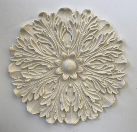French Empire rosette silicone mold - mould