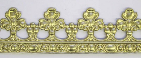 Fleur de Lis Crown border silicone mold - mould