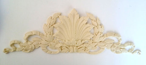 Grand Laurel Wreath with Shell silicone mold - mould