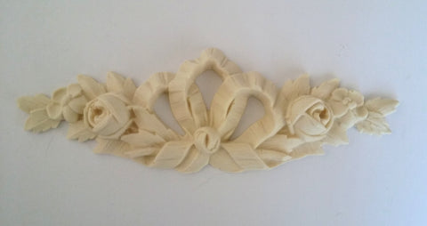 Romantic bow with flowers silicone mould