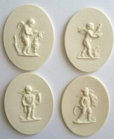 Set of 4 Seasons Cherubs Silicone moulds by Sugar Art Molds