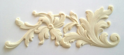 Double floral leaf sprays silicone mold - mould