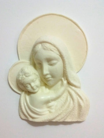 Virgin Mary with baby Jesus silicone mould