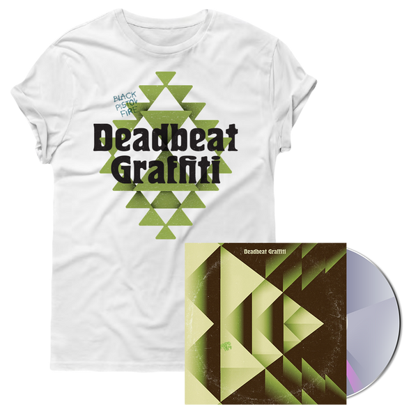 Deadbeat Graffiti White Tee + CD