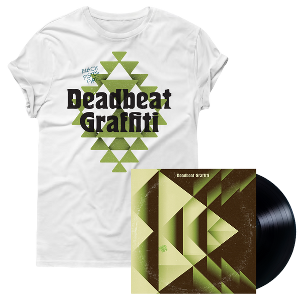 Deadbeat Graffiti White Tee + Vinyl