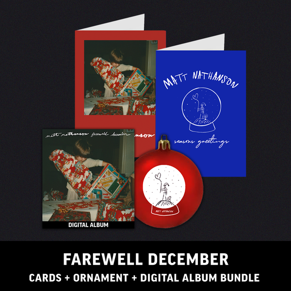 Farewell December Greeting Cards + Snowglobe Ornament + Digital Album