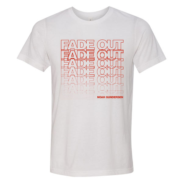Fade Out White Tee