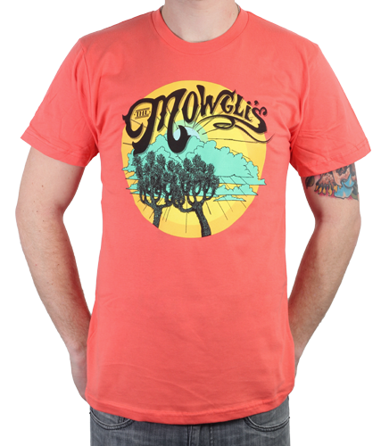 Guys Tree Light Orange T-Shirt
