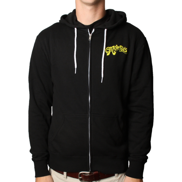 Waiting For The Dawn Black Zip Hoodie