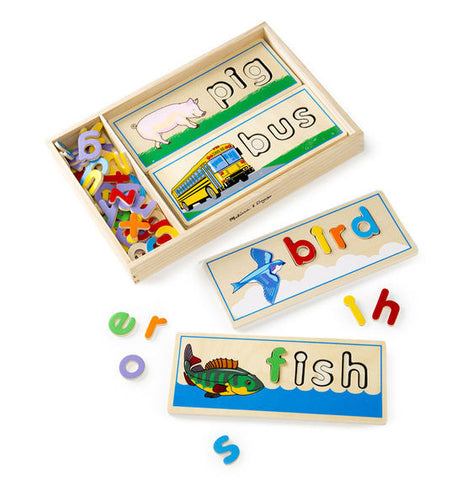See and Spell Wooden Learning Toy Puzzle Set