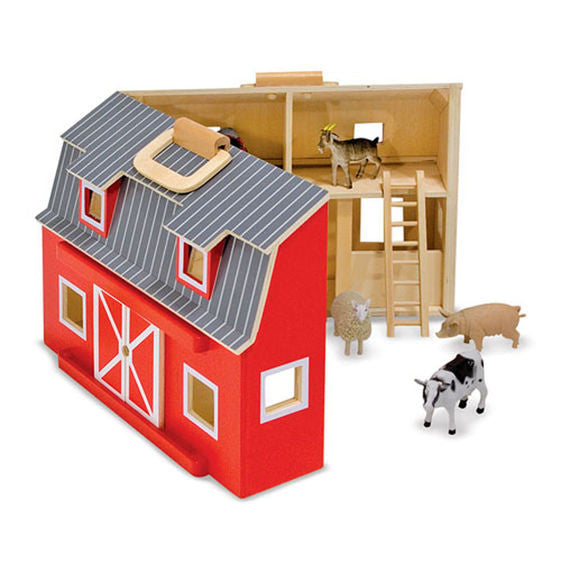 Fold and Go Barn Toy Set