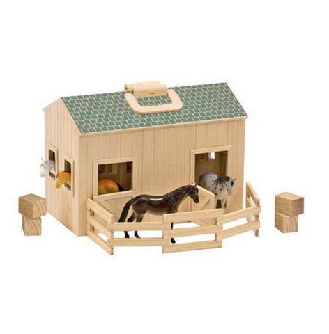 Fold and Go Horse Stable Set