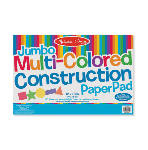 Jumbo Multi Colored Construction Paper Pad