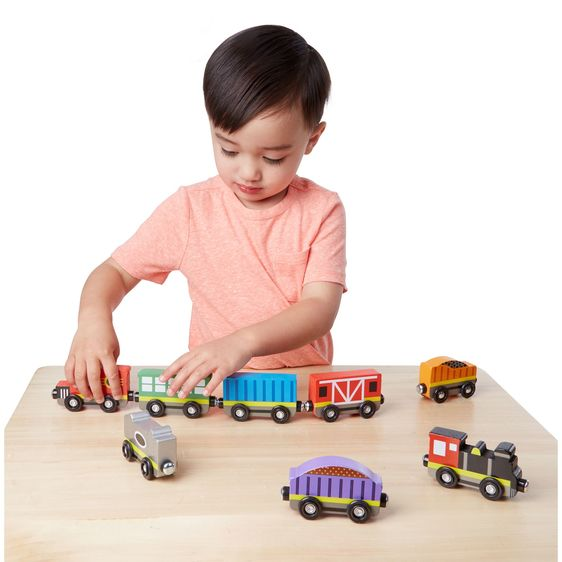 Wooden Trains in a Box Set