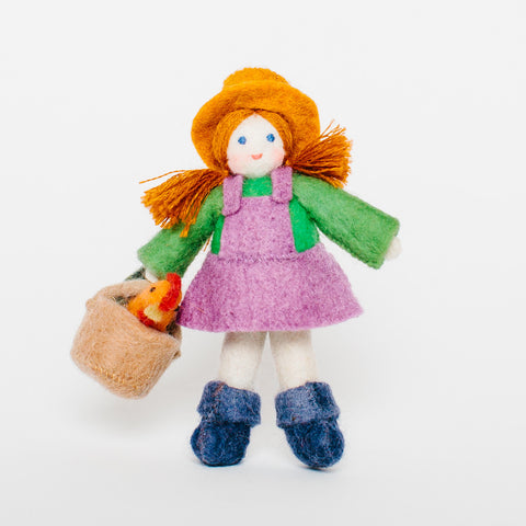 Wool Felt: Farmer Girl Toy