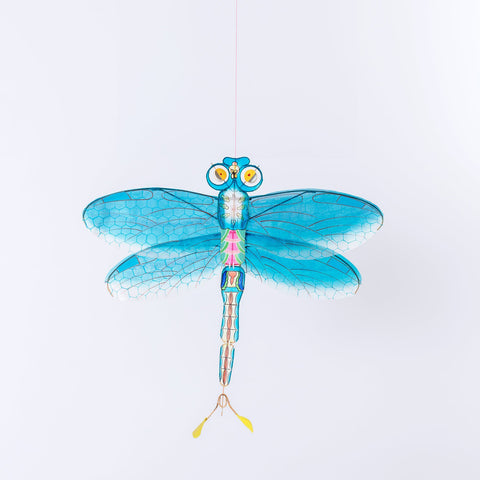 Bamboo Silk Kite- Blue Dragonfly