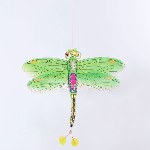 Bamboo Silk Kite- Green Dragonfly