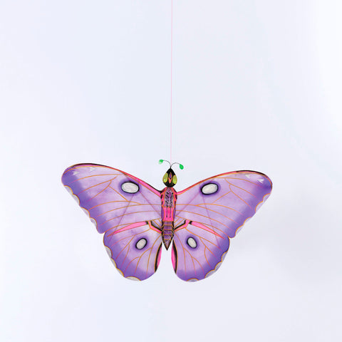 Bamboo Silk Kite- Purple Butterfly