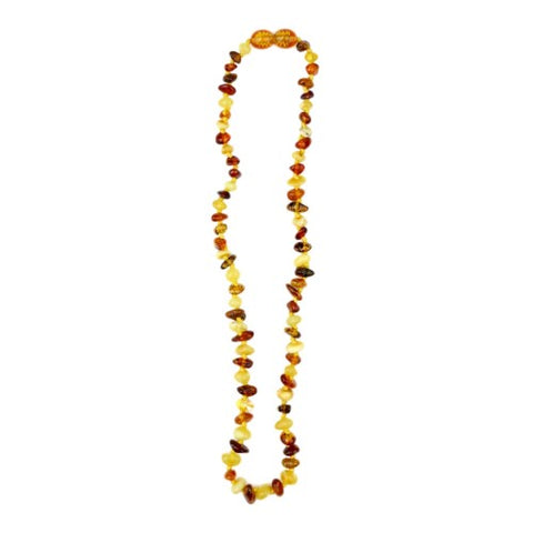 Natural Amber Teething Necklace- Baltic Amber Multi Color