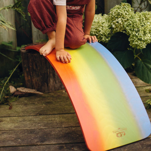 Rainbow Wood Balance Board