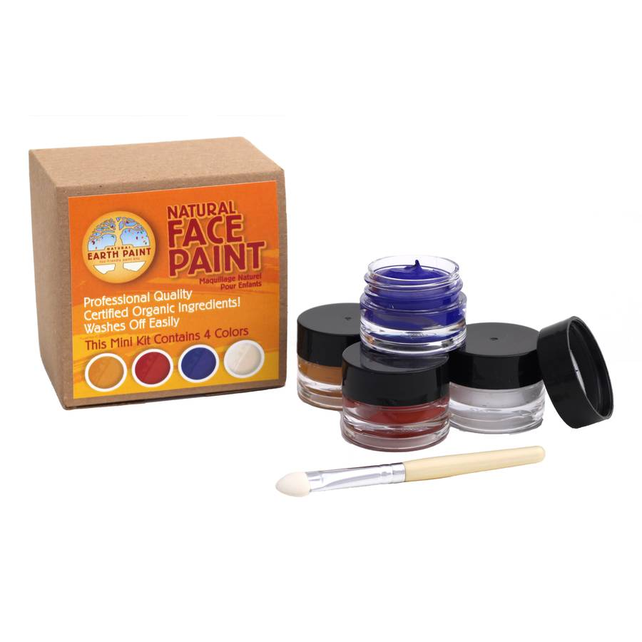 Mini Natural Face Paint Kit- 4 Colors