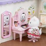 Cosmetic Counter Set with Persian Cat Doll