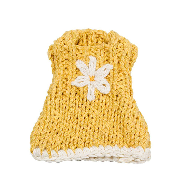 Micro- Knitted Yellow Dress