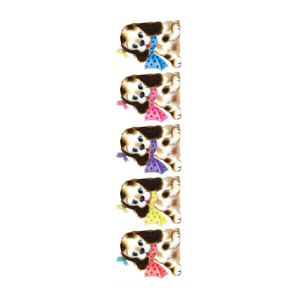 Cute Puppies with Bow Stickers