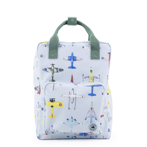 Large Backpack- Vintage Airplanes