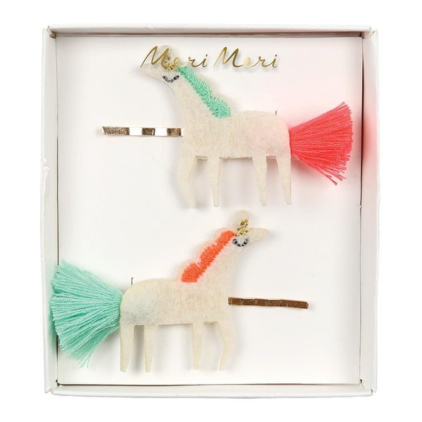 Unicorn with Tails Hair Slide Clips