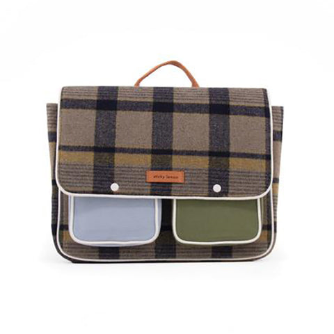 Flap School Bag Wanderer- Plaid #1