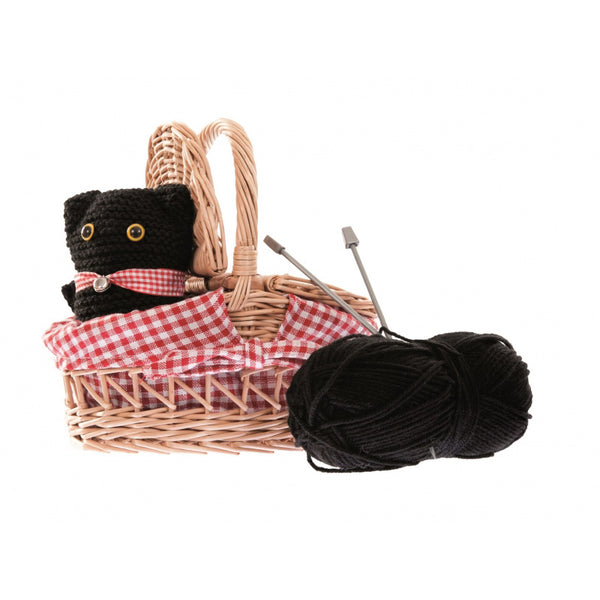 Knitting Cat in a Basket Kit