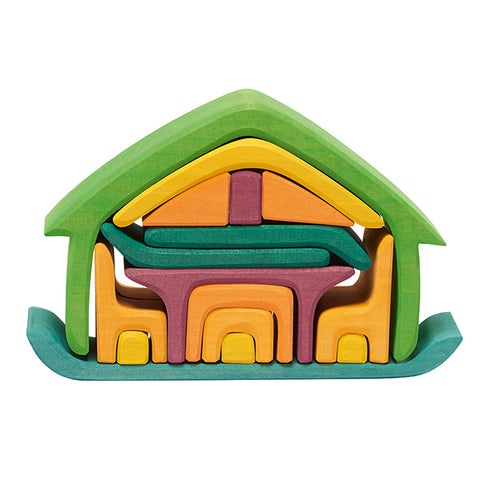 All in House Color Stacking Toy- Green