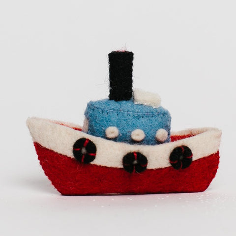 Wool Felt: Toot Toot Tugboat Toy