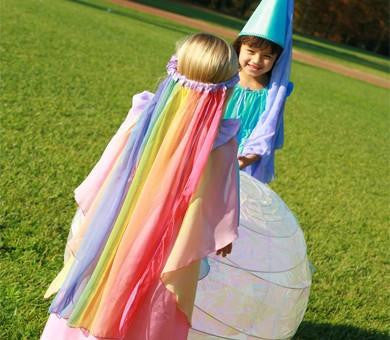 Rainbow Play Veil Crown