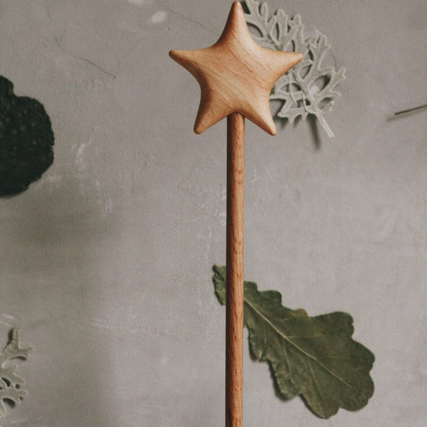 Wooden Star Wand