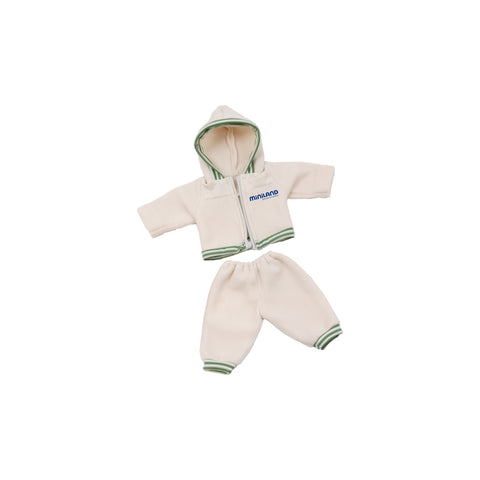 Cream Tracksuit with Hood Doll Clothing Set